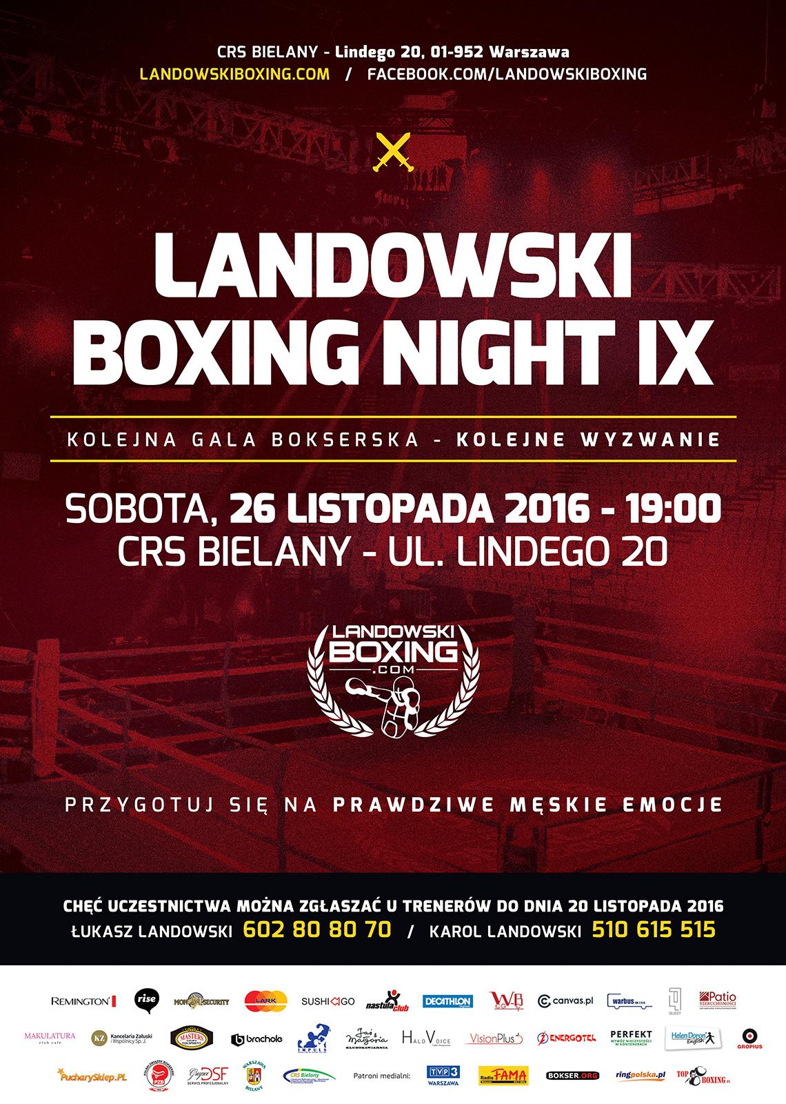LANDOWSKI BOXING NIGHT IX